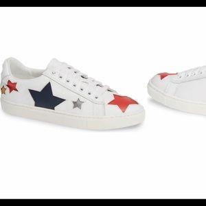 Post white multi sneaker
